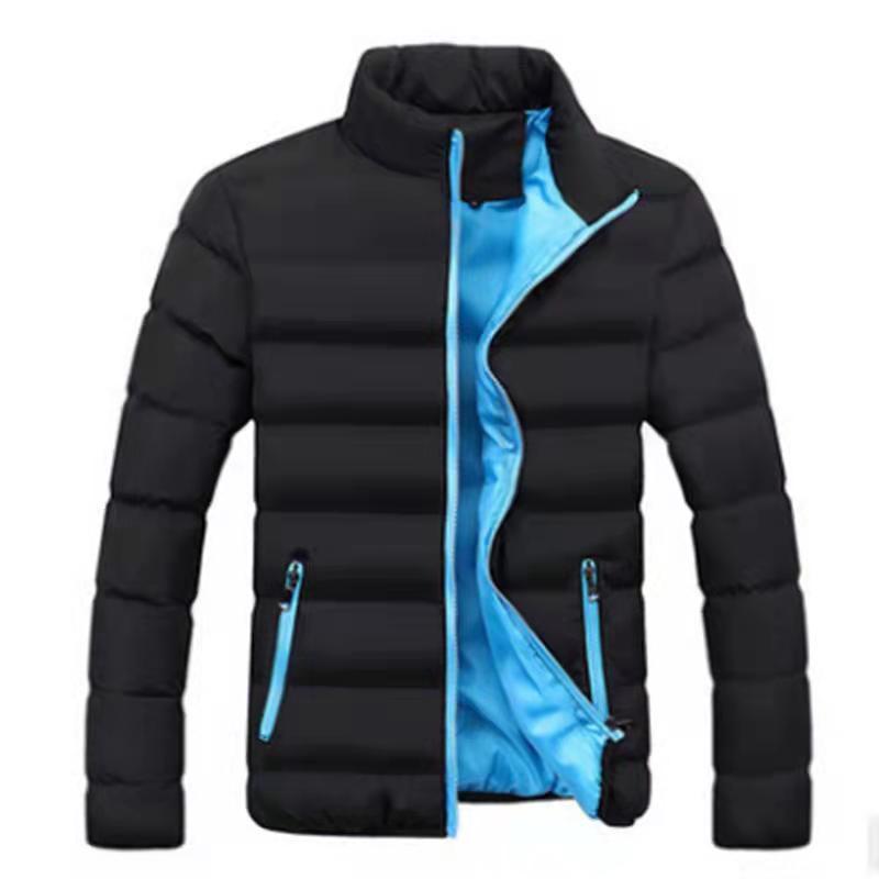 Новинка 2021, брендовая зимняя мужская куртка, модная мужская куртка с воротником parker, однотонная Толстая куртка, Мужская зимняя куртка 4XL
