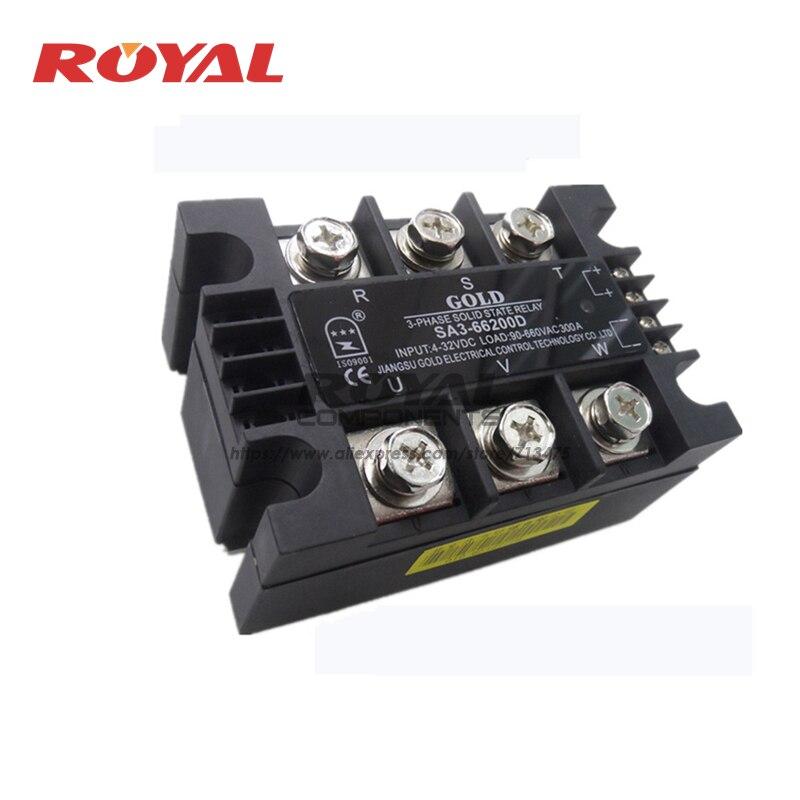SA3-66200D SA366200D NEW AND ORIGINAL  3-PHASE Solid state relay 4-32VDC,90-660VAC 200A
