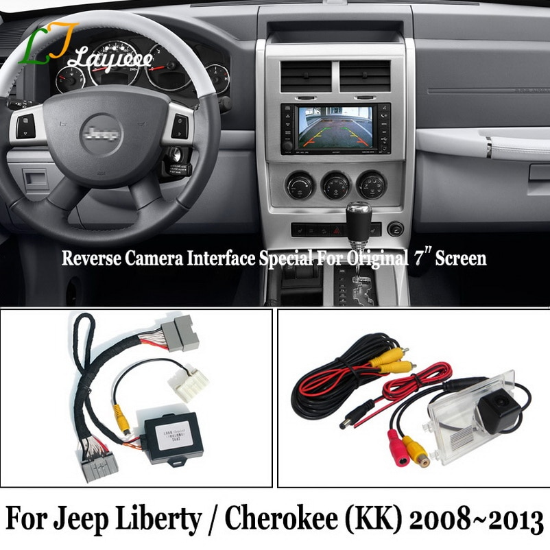 Get Reverse Camera Kit For Jeep Liberty Cherokee KK 2008 To 2011 2012 2013 / HD Rear View Parking Camera Compatible With OEM Screen