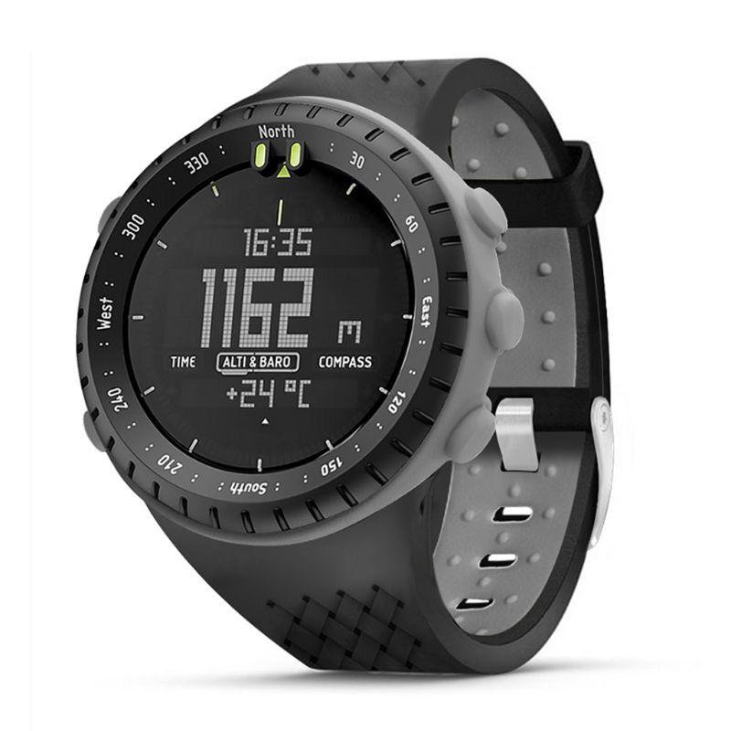 Dos Tono de silicona suave correa de muñeca/correa de reloj Anti-arañazos reloj caso Protector de pantalla para Suunto Core reloj inteligente Accesorios