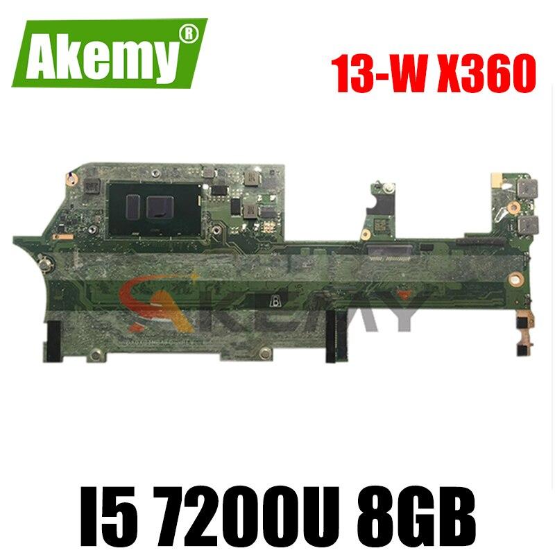 DA0X31MBAF0 907560-601 916787-601 ل HP شبح 13-W X360 13-W010CA 13-W اللوحة المحمول وحدة المعالجة المركزية I5 7200U 8GB 100% اختبار