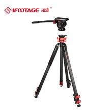 IFOOTAGE Gazelle series TA5&TC5&TA6&TC6 travel Professional carbon fiber/alloy aluminum Video Tripod add K5 for SONY CANON DSLR