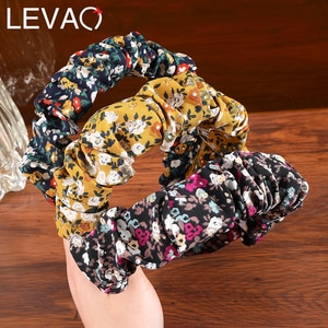 Levao Boho Wrinkled Hairbands Loose Fashion Headband Wide Hair Bands Ladies Headbands New Arrival Hair Accessories Headwear