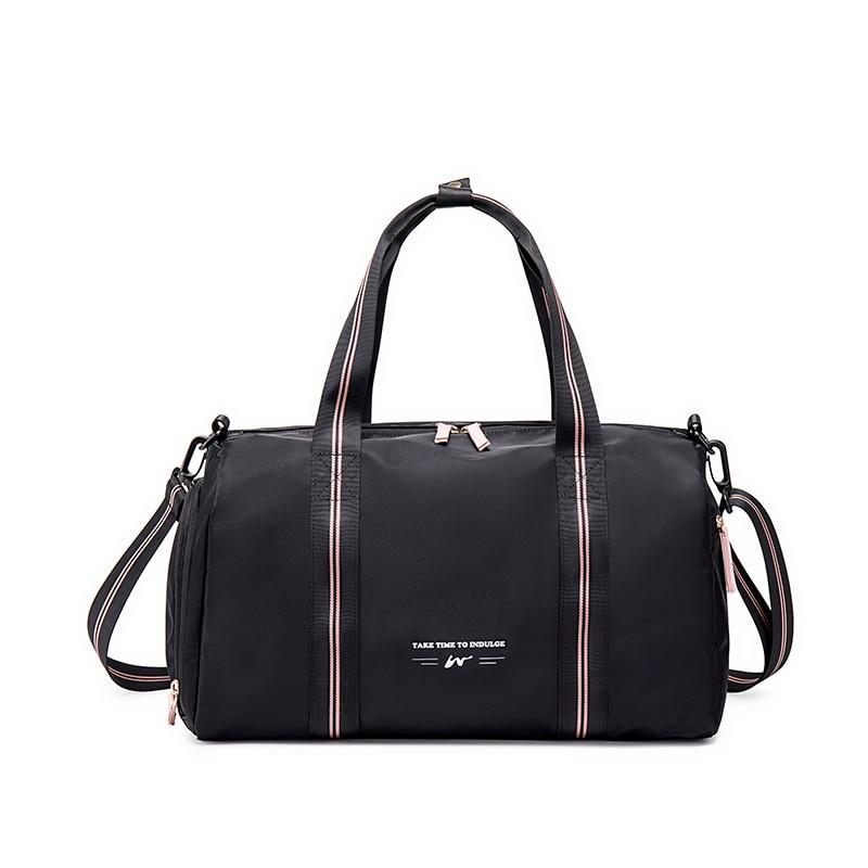 Waterproof Nylon Sports Gym Bags Men Women Training Fitness Travel Handbag Yoga Mat Sport Bag with s