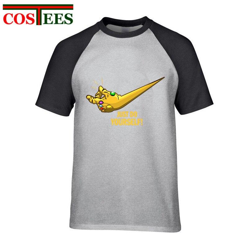 Camiseta de parodia de vengadores Infinity War 2020, camiseta de hombre Just do yourself, camiseta de hombre, camiseta de ataque superpotente a la camiseta Titan