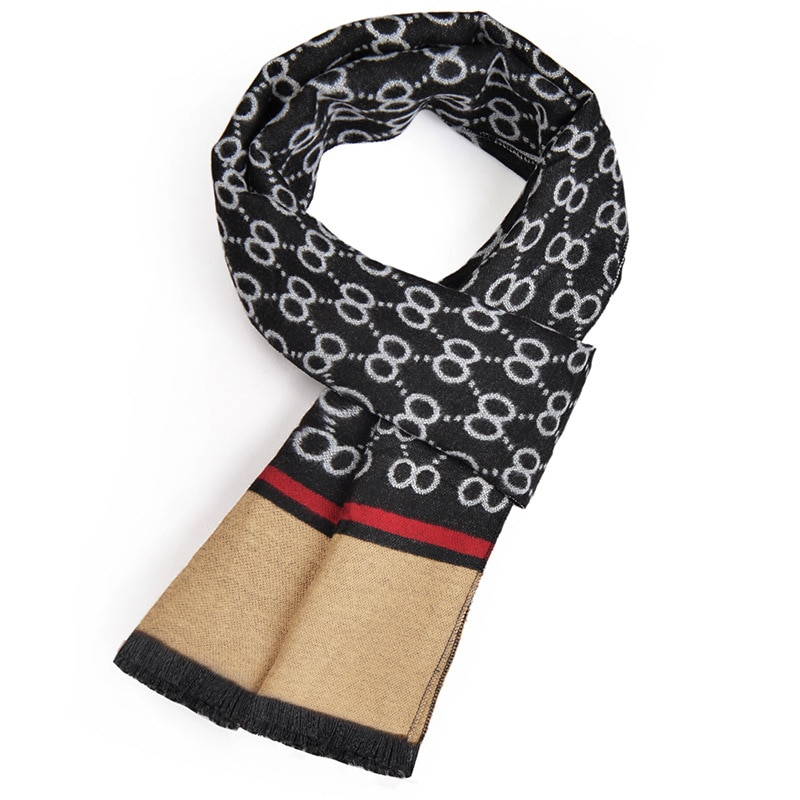 cotton yarn-dyed people men scarf Europe and the United States sell like hot cakes fringed shawl winter promotion gifts