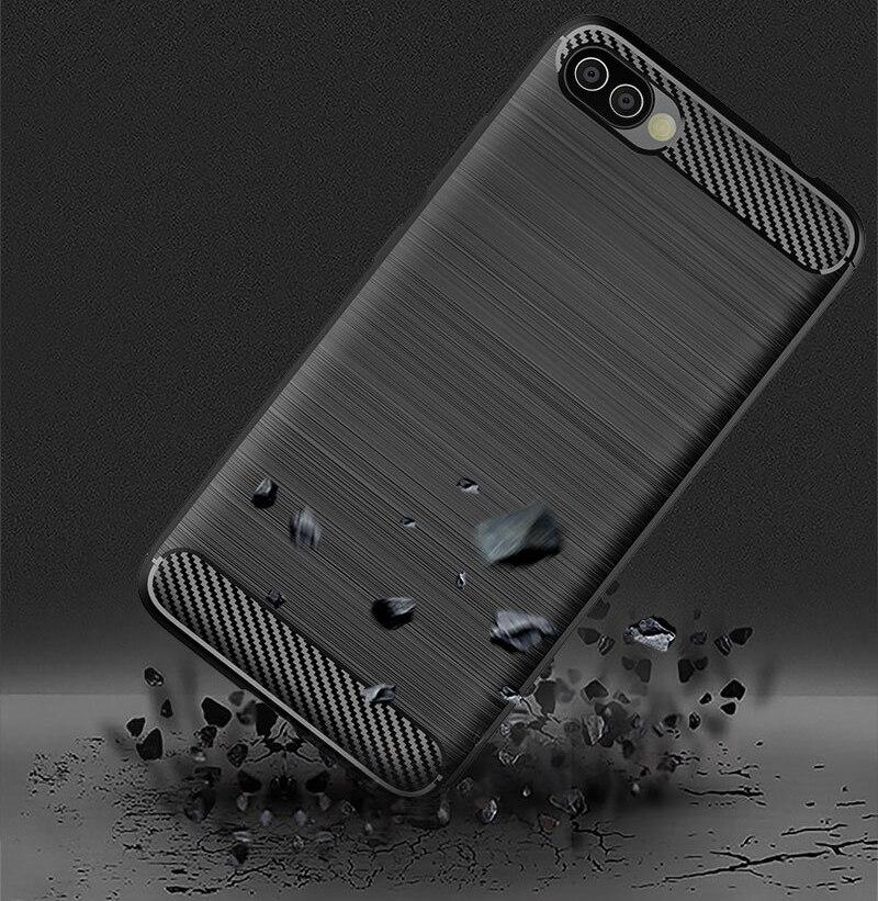 Carbon Fiber Case For Asus Zenfone 3 Zoom ZE553KL 4 Max Pro ZC520KL ZE554KL ZC554KL ZS551KL Case TPU Soft Silicone Case Bumper