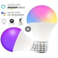 Ampoule intelligente WiFi 15W E27 B22  variable RGB   CCT 85-260V  commande vocale  fonctionne avec Alexa Google Home