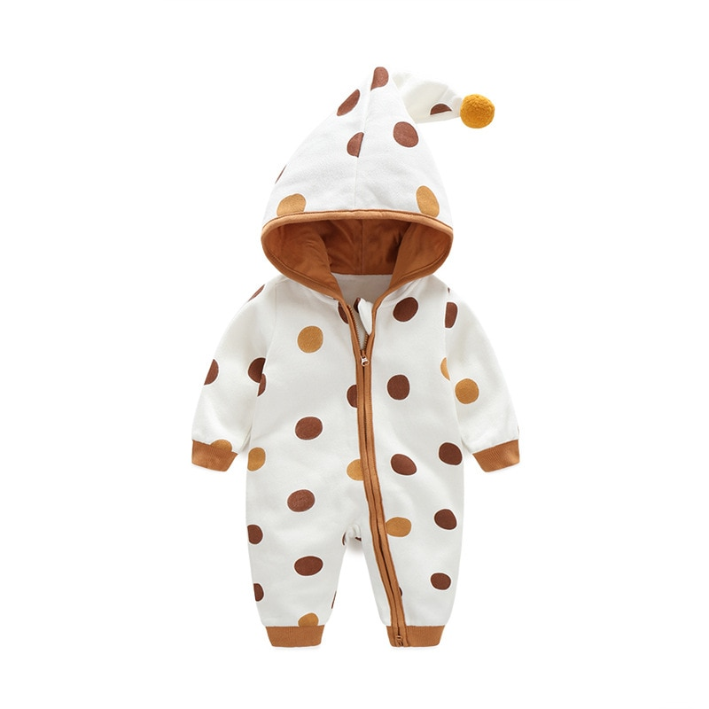 Yg Brand Children's Clothing, Baby And Girl's Cotton Single Piece Clothes, Crawling Clothes With Hat