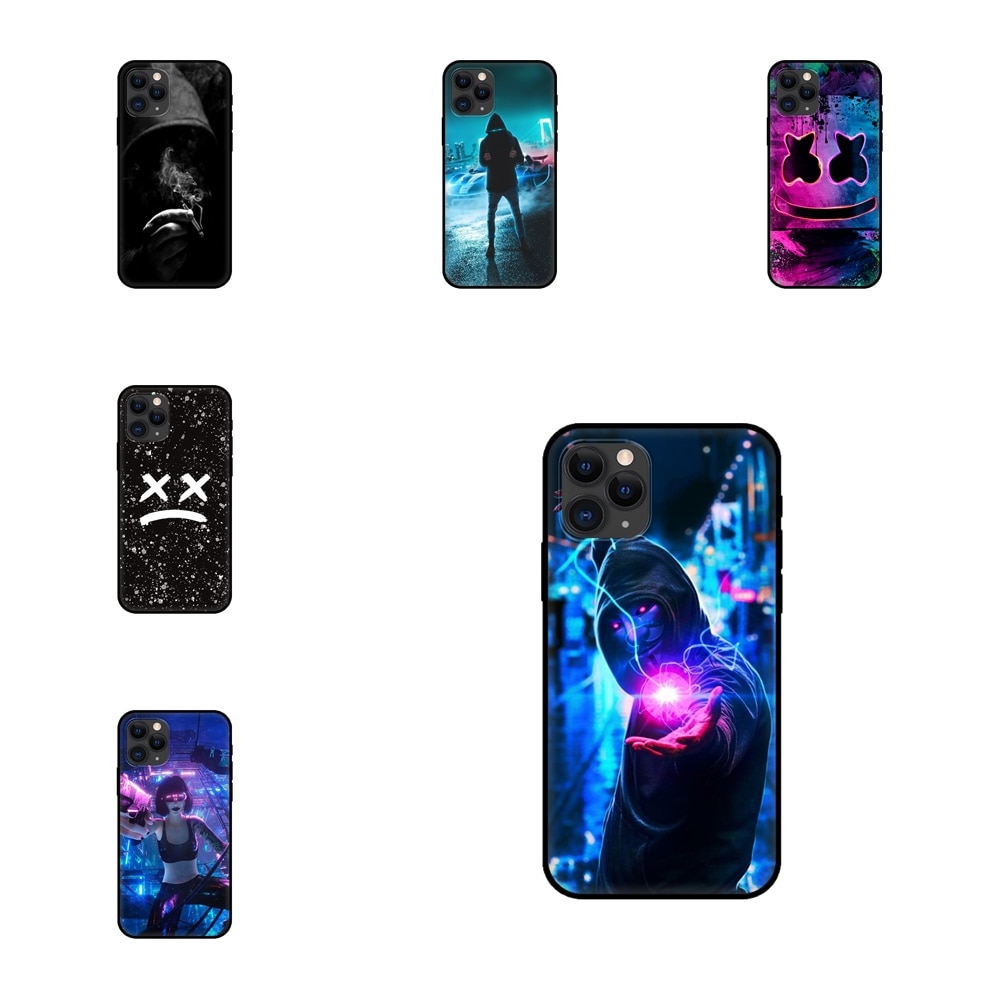 Enjoy Street Brand Boy Girls Soft Phone Bags Shell For Redmi Note 10 9 9S 9T 8 8T 7 6 5 5A 4 Pro Max