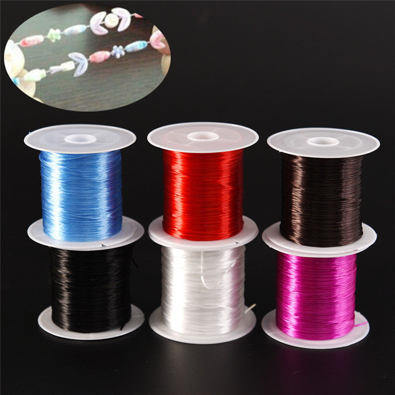 1mm Strong Stretchy Crystal String Beading Cord Wire Thread Elastic Rope For Making Jewelry Findings DIY Bracelets Necklace