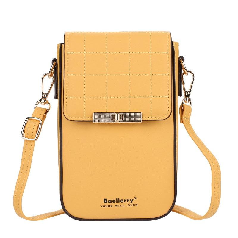 Women Fashion Single Shoulder Bag Messenger Bags Phone Pocket Bag Lady Purses Credit Card Holders Organize Storage Large Wallet