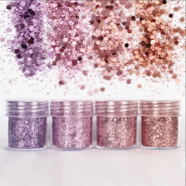 AliExpress - Purple Pink Hexagon Glitter Bling Bling Filling Materials for Resin Craft Festive Jewelry Tools Uv Resin Pigment (4pcs)