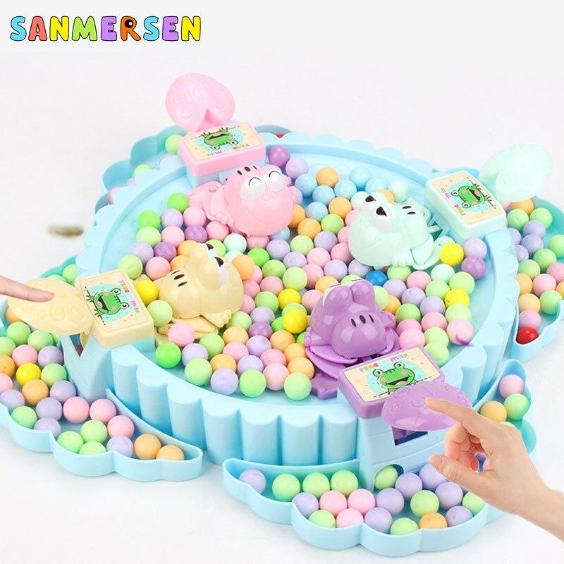 Divertido juego de tablero de ranas Hungry Eating Beans juguete creativo de escritorio juego de fiesta cuentas juguete de alimentación Regalo De chico juguete de juego para padres e hijos