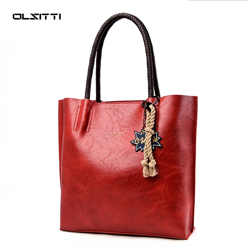 Fashion Leather Shoulder Bags for Women 2021 Designer Handbag Large Capacity Casual Tote Bags Luxury