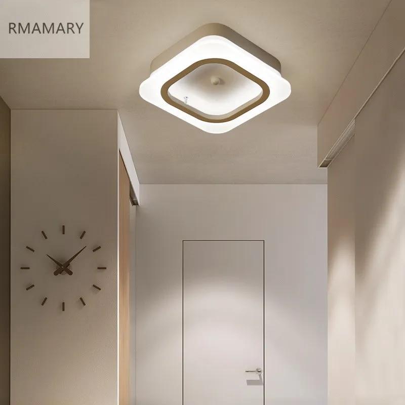 Plafonnier LED en acrylique au design minimaliste moderne et créatif, idéal pour un couloir, une véranda, un balcon ou un vestiaire