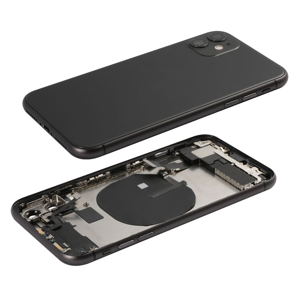 AAA Back Housing Rear Glass Cover For iPhone 11 Battery Cover Middle Chassis Frame Assembly With Flex Cable Full Set Assembly enlarge