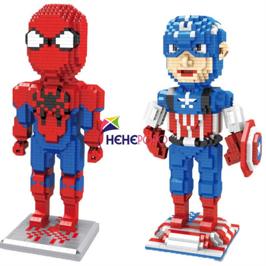 1780 + Uds 3495 héroes de diamante Serie América Superman bloques niños construcción educativa ladrillo DIY juguetes Jouets