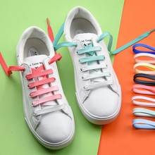 1 Pair Colorful Shoelaces Candy Gradient Party Camping Boots Shoe Laces Canvas Strings Camping Silk