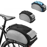 new bicycle bag 13l large capacity bike saddle rack luggage trunk bags carrier pouch biking portable dustproof motorcycle bag