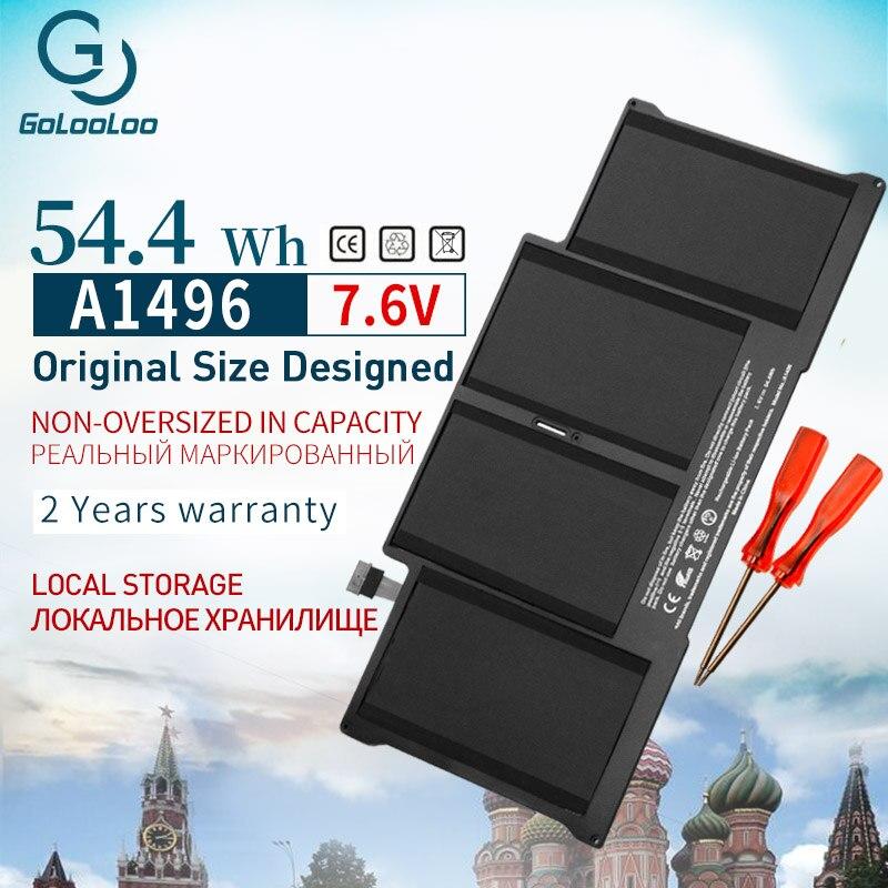 Аккумулятор gololoo A1496 7,6 В для ноутбука Apple MacBook Air 13