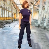in stock 16 cjg w026 female figure accessory los angeles policewoman t shirt overalls swat suit clothes model for 12 body