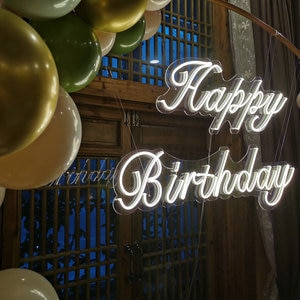 Happy birthday Neon sign Home Party decoration wall lights Kids gift drop shipping