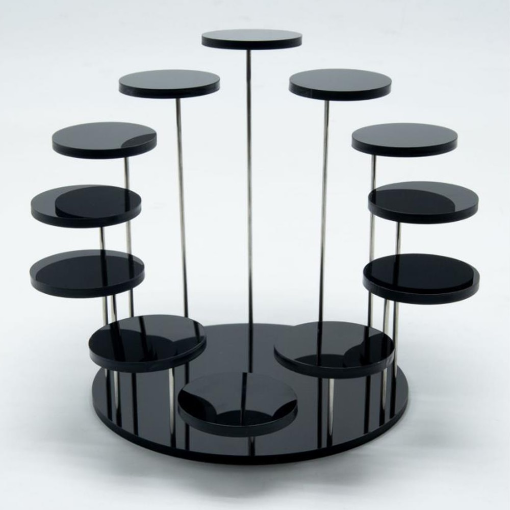 Round Cupcake Stand Acrylic Display Stand For Jewelry Cake Dessert Rack Party Wedding Cake Stand Bab