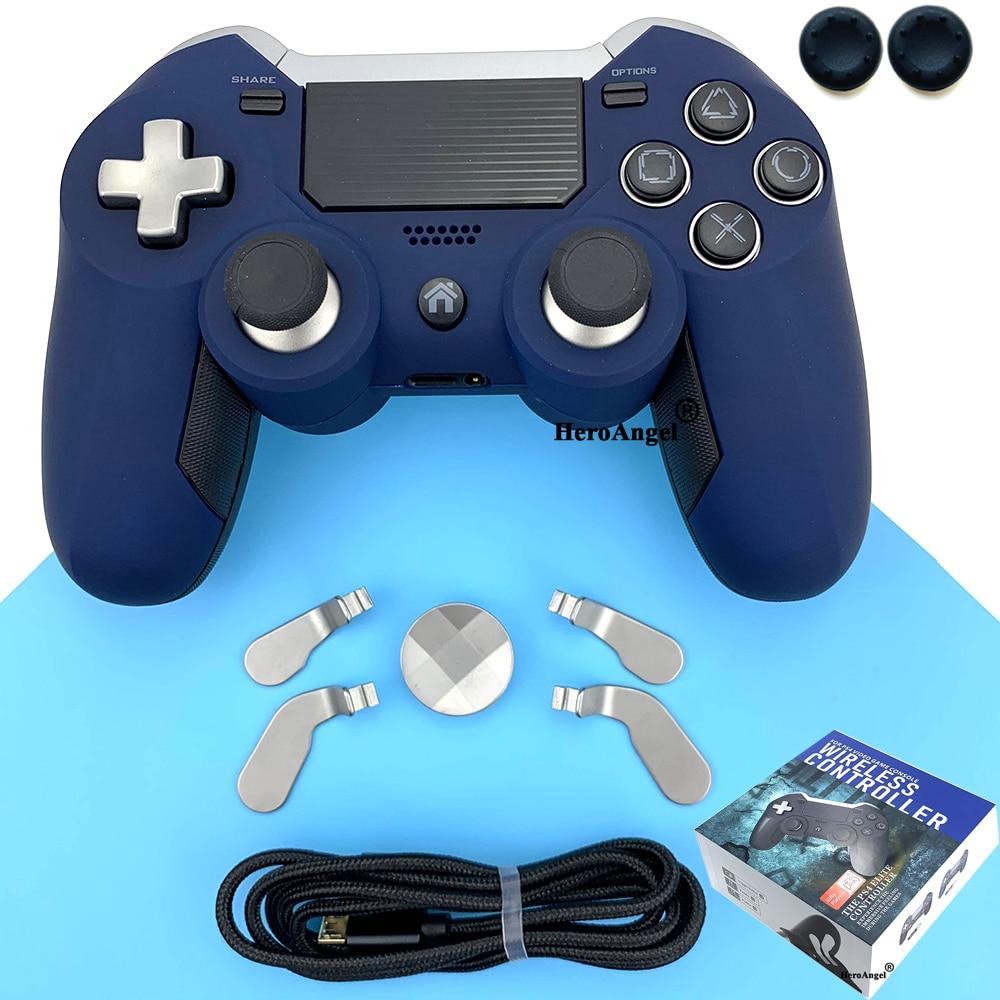 جديد وصول! وحدة تحكم بلوتوث لاسلكية لـ PS4 ، وحدة تحكم ألعاب Elite مع اهتزاز مزدوج ، وحدة تحكم لـ PS3/PC