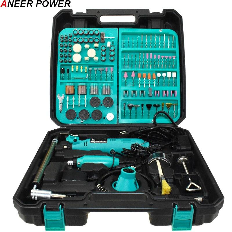 Dremel 2 шт. шлифовальный станок, дрель, гибкая мощность, DIY роторные инструменты, шлифовальные машины, электрическая гравировка, полировка, Эле...