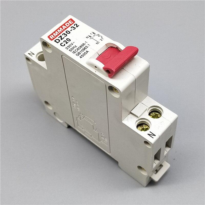 10 pces DZ30-32 tpn dpn 1p + n mini disjuntor 10a, 16a, 20a, 25a, 32a mini disjuntor recorte em miniatura interruptor de ar doméstico