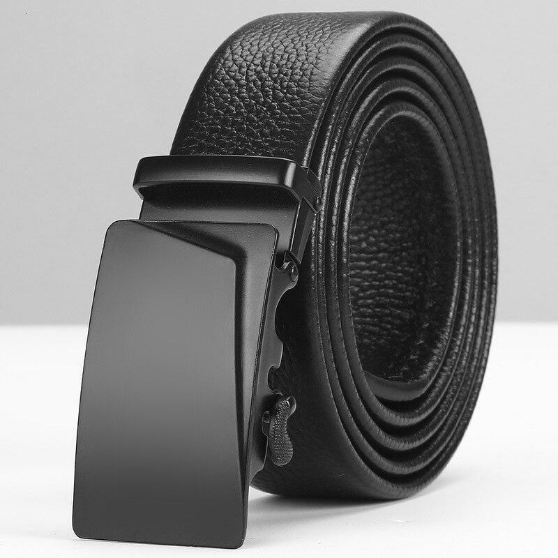 Peikong Leather automatic buckle for men designer Fashion Belts high quality for men Business Popular Brand Black Belts Luxury