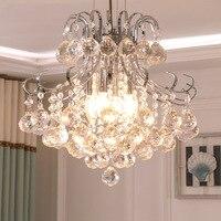 Simple and modern crystal pendant lamp iron round pendant light dining room cloakroom hallway porch led lamp modern light LB1222