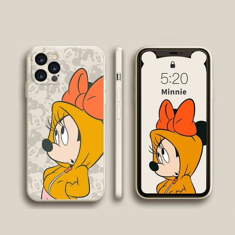 Disney с принтом «Микки Маус» для iPhone X 7 8 11 12 Pro MAX XR XS SE Чехлы для мобильного телефона из мягкого силикона чехол для iPhone смартфона