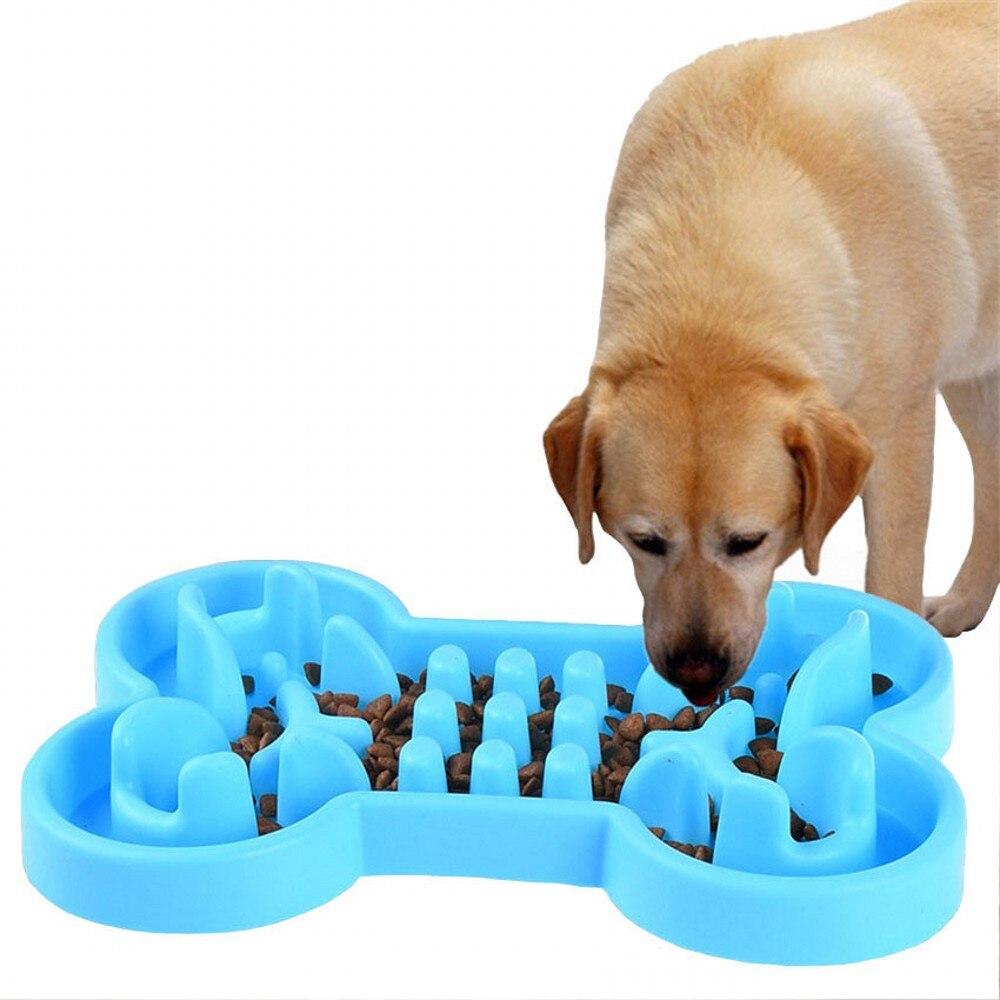 Tazón de perro de goma suave y saludable, Alimentador de comida lenta,...