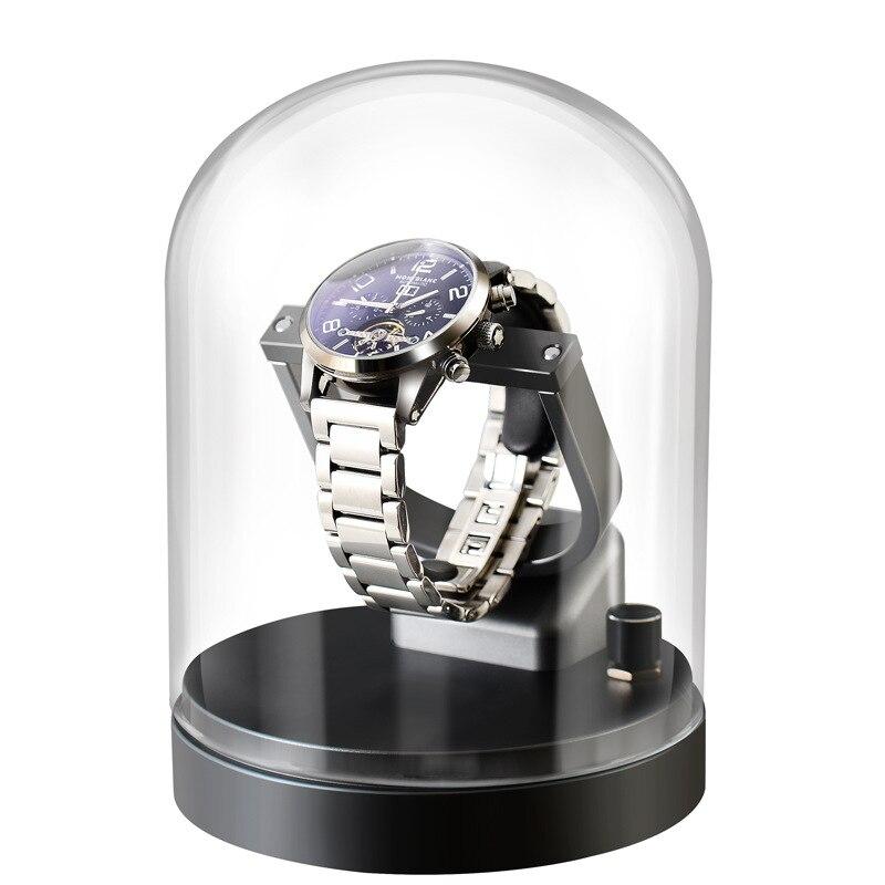 Automatic Watch Winder Box For Mechanical Watches Watch Shaker Brand Fashion Single Watch Box Rotator Luxury Transparent Glass enlarge