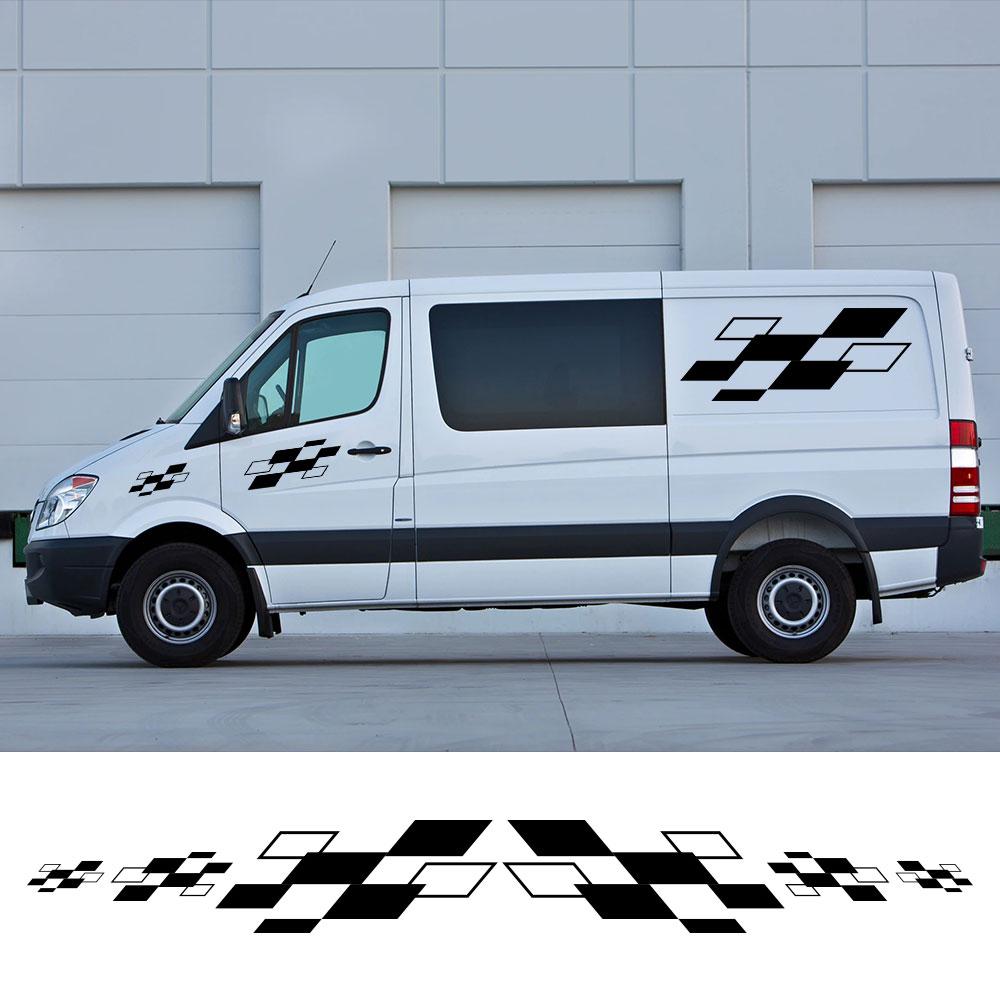 6 unids/lote pegatinas para el coche caravana Camper Van deportes de competición...