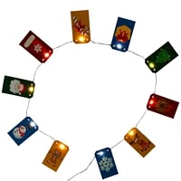 new 5d diamond painted christmas tree decoration chain card with lights christmas decoration light string