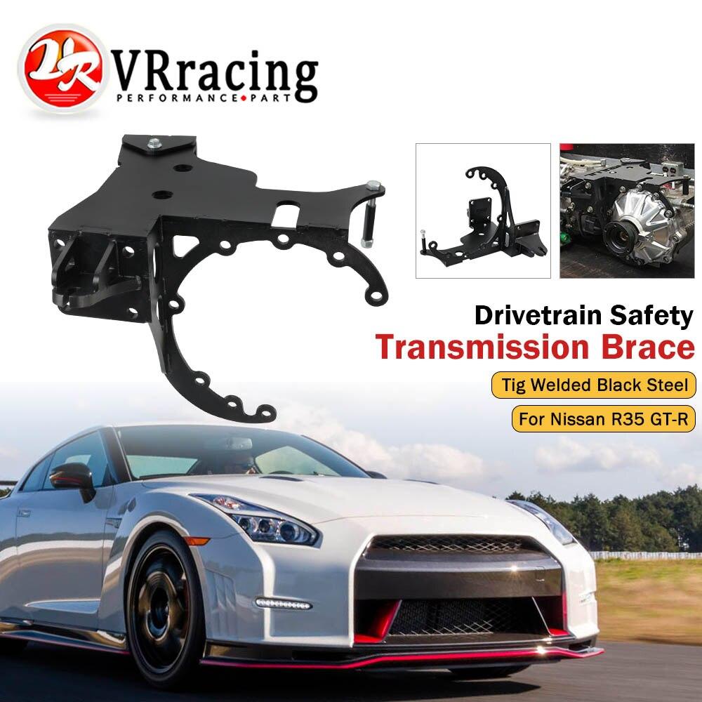 Performance Safety Motorsport Transmission Brace for Nissan R35 GT-R GTR GR6 Drivetrain Tig Welded Black Coated Steel