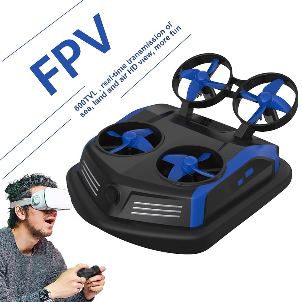S200 Mini RC Drone 600TVL FPV 3in1 modo conmutable a prueba de agua Hovercraft un botón Flip sobre alarma de baja presión RC Juguetes