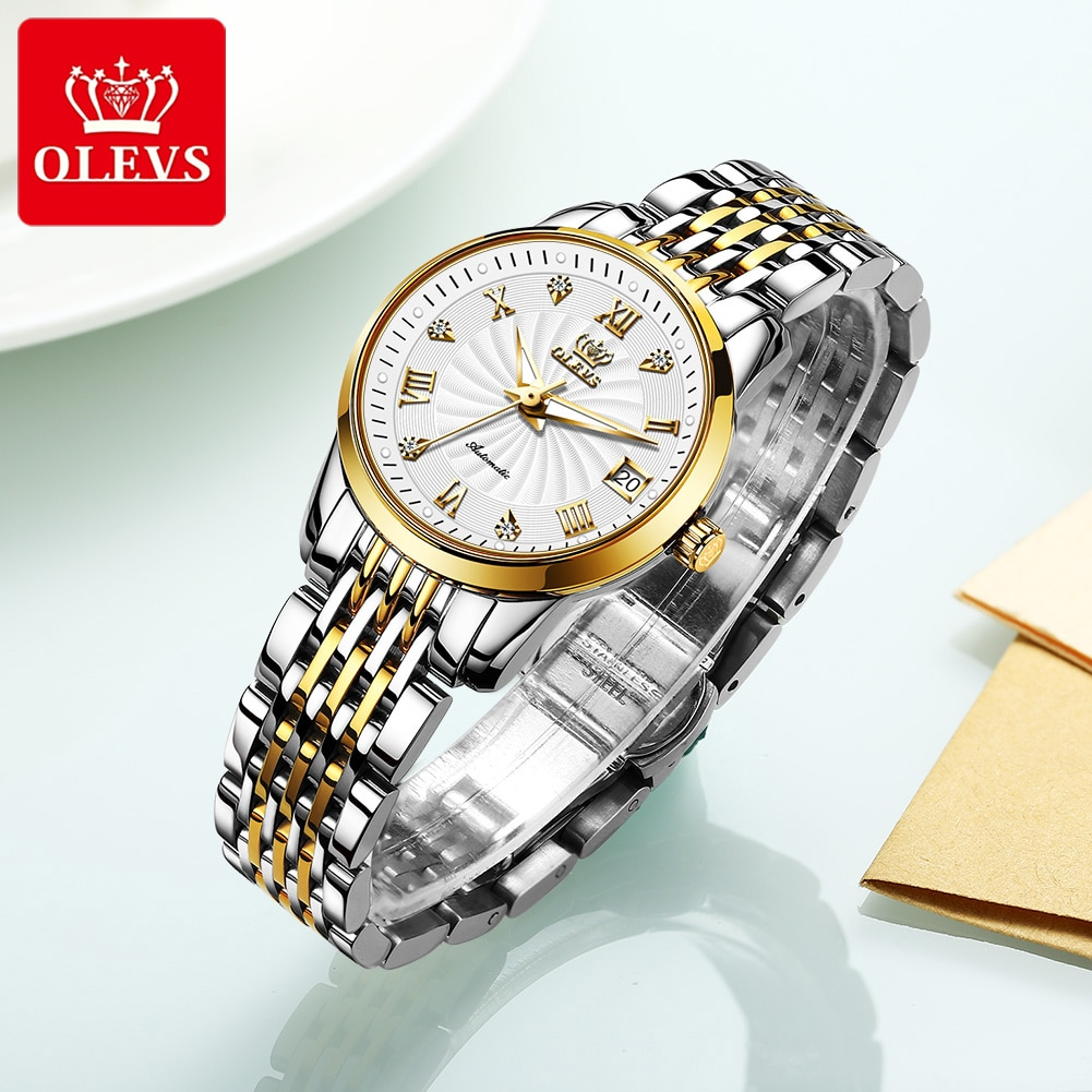 Olevs Luxury Mechanical Automatic Women Watch Cheap Women's Watches High Quality Simple Watches Watch Gift for women bracelet s enlarge