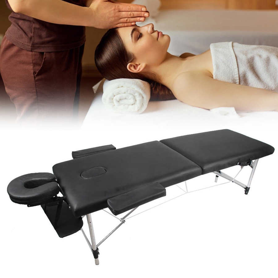 Folding Portable Massage Table Adjustable Height PU Leather  Waterproof Massage Bed SPA Table Professional for Salon Home