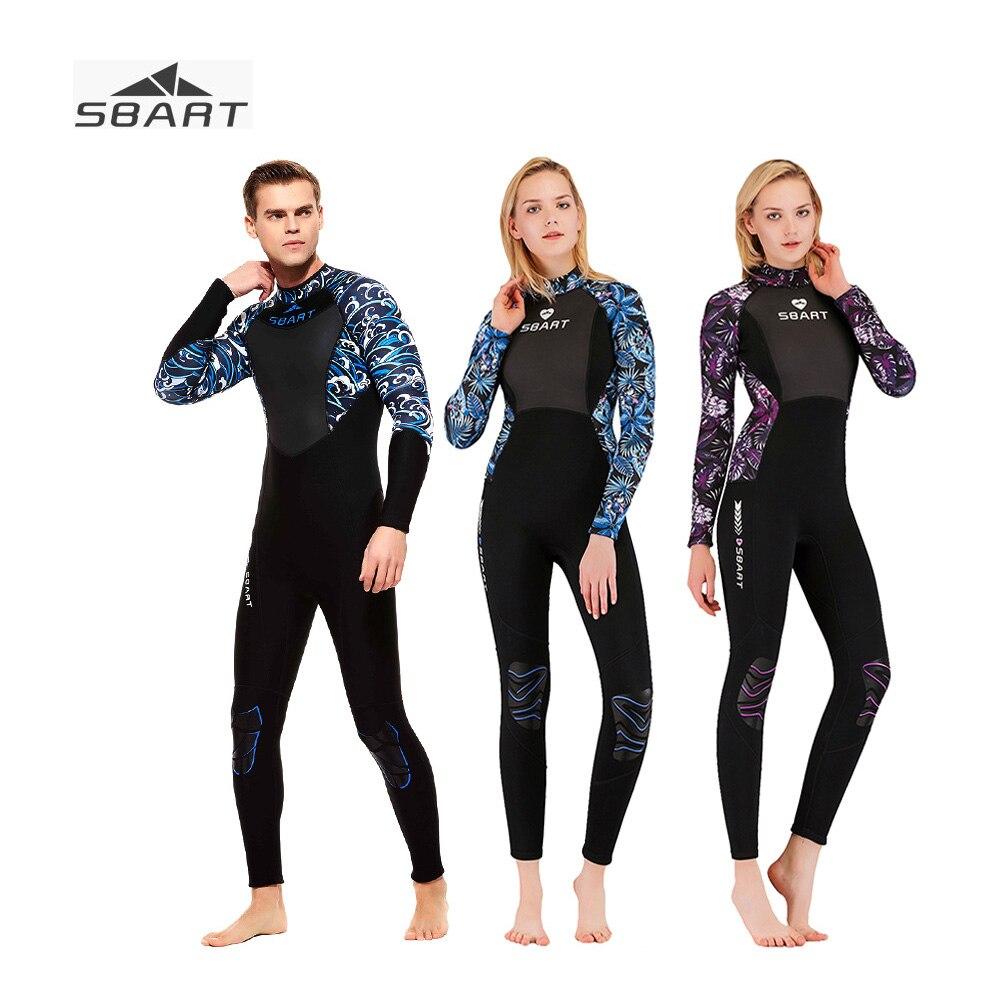 Sbart 3mm de Corpo Inteiro Par Caça Submarina Wetsuit Neoprene Surf Mergulho Terno de Mergulho One-Proteção Solar pedaço Grosso wetsuits