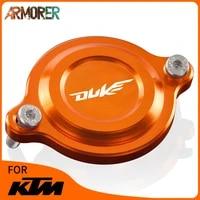 duke125 duke390 motorcycle engine billet oil filter cover cap protector accessories for ktm 125 200 250 390 690 duke 690 duke r