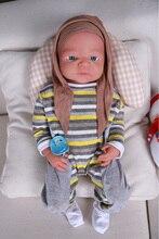 IVITA WG1523 48cm 3800g haute qualité réaliste Silicone Reborn poupées nouveau-né bébé enfant en bas âge réaliste peau douce fille jouets