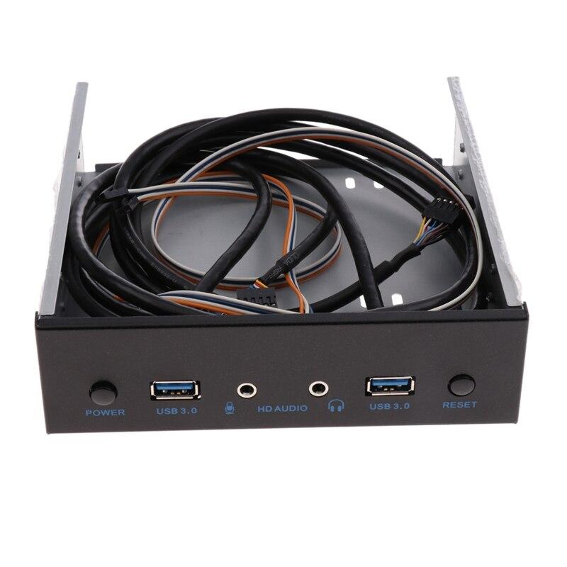 Adaptador de expansión de Panel frontal con 2 puertos Usb 3,0, Unidad óptica, conector Usb 3,0 + Audio Hd + interruptor de encendido