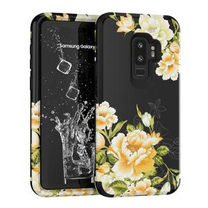 3 in 1 Phone Cases For Samsung Galaxy S9 Girl Women Flower Covers Shock proof Bumpers Glaxay S 9 Floral Cases Galaxys Coque