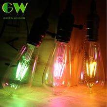 8 couleurs Vintage LED Edison ampoule E27 220V incandescente Filament ampoule rétro coloré Edison lumière pour la décoration de magasin à domicile