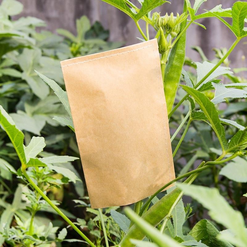100pcs Garden Kraft Seed Bag Soaking Seedling-Raising Bags Environmental Protection Garden Nursery Bags Supplies
