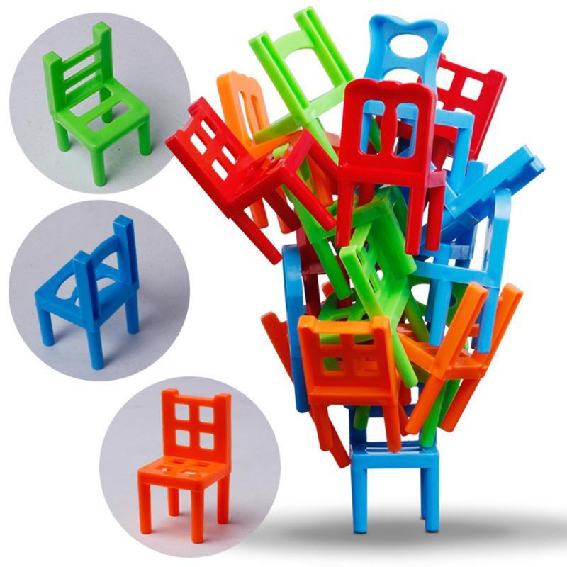 Crianças jenga cadeira fezes jenga pai-criança coleta puzzle jogo de tabuleiro brinquedo